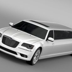 Lancia Thema Limousine 3D Model