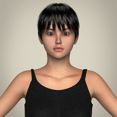 Realistic Pretty Teen Girl 3D Model