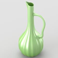 Shiny decorative jar 3D Model