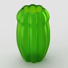 Decorative matte glass vase 3D Model