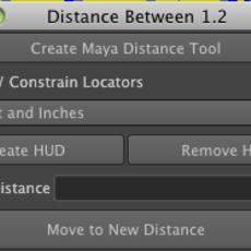 Distance Between Tool for Maya 1.2.1 (maya script)