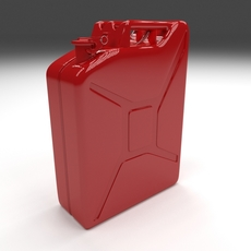 Jerry Can Red 3D Model