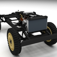 Full Jeep Chassis 3D Model