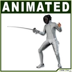 White Fencer CG 3D Model