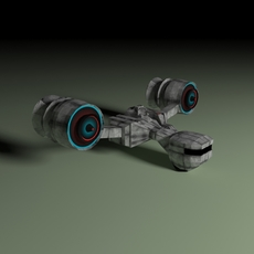 Space fighter with ion cannon 3D Model