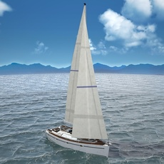 Sunbeam 34 Yacht 3D Model