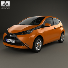 Toyota Aygo 5-door 2014 3D Model