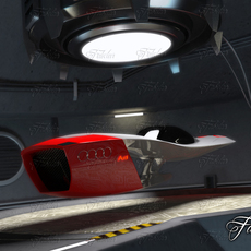 Audi Calamaro + garage 3D Model