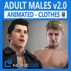 Animated Males v2 3D Model