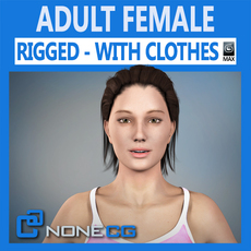 Adult Female Angie Rigged 3D Model
