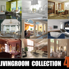 Livingrooms Collection 4 3D Model