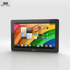 Acer Iconia Tab A3 White 3D Model