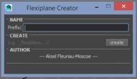 flexiplane Creator for Maya 1.1.5 (maya script)