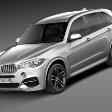 BMW X5 M-package 2015 M50d 3D Model