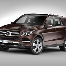 Mercedes Benz GLE Class (2016) 3D Model