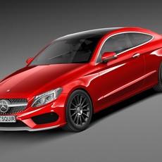 Mercedes-Benz C-class Coupe 2017 3D Model