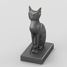 Egyptian goddess Bastet hi-poly figurine 3D Model
