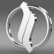 Nissan Diesel Trucks logo 3D Model
