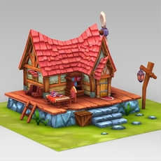 Fantasy Sweet Home 3D Model