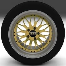 BBS Wheel Gold 3D Model