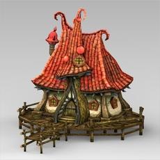 Fantasy Water Hut 3D Model