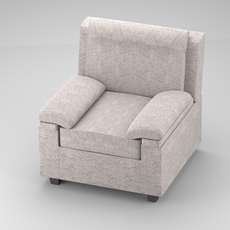 Classical fabric couch 3D Model