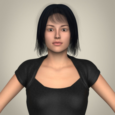 Realistic Beautiful Modern Woman 3D Model