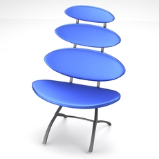 Modern chair with sectional backside 3D Model