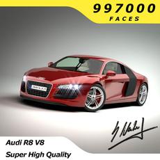 Audi R8 V8 - High Quality 3D Model