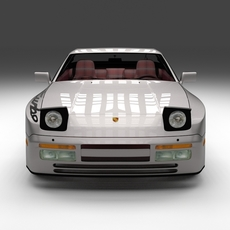 Porsche 944 Turbo S with interior 3D Model