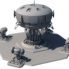Sci Fi Building 1504 3D Model