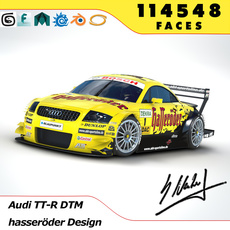 Audi TT DTM 2003 3D Model