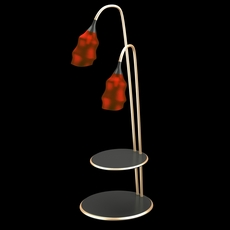 Modern floor lamp with red domes 3D Model