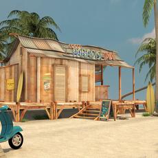 Sunny Beach 3D Model