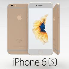 Iphone 6S Gold 3D Model