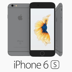 Iphone 6S Space Gray 3D Model