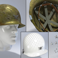USA Army Helmet from Korea War 3D Model