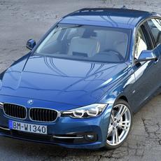 BMW 3 series F30 Sport Line 2016 3D Model