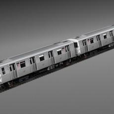 R160 Train New York City Subway 3D Model