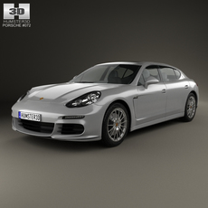 Porsche Panamera Turbo Executive 2014 3D Model