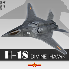 H-18 Chinese Stealth Bomber 3D Model