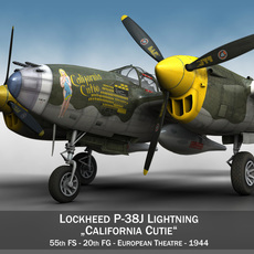 Lockheed P-38 Lightning - California Cutie 3D Model