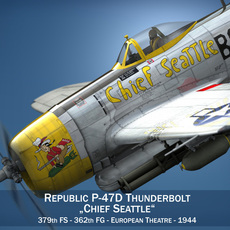 Republic P-47D Thunderbolt - Chief Seattle 3D Model