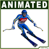 White Skier CG 3D Model
