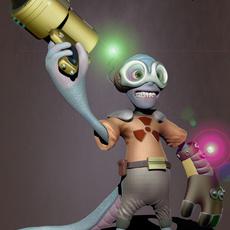 Blue Alien 3D Model