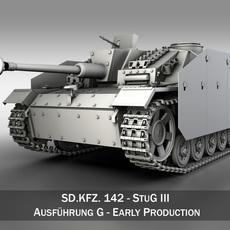 SD.KFZ 142 StuG III Ausf. G Early Production 3D Model