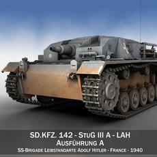 StuG III - Ausf.A - LAH 3D Model