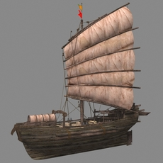Chinese old ship 03 3D Model