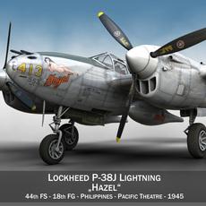 Lockheed P-38 Lightning - Hazel 3D Model