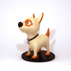 Dog cartoon 01 3D Model